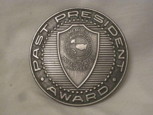 "vintage Jaycees Past President Award 3"" United States medal medallion ornament"