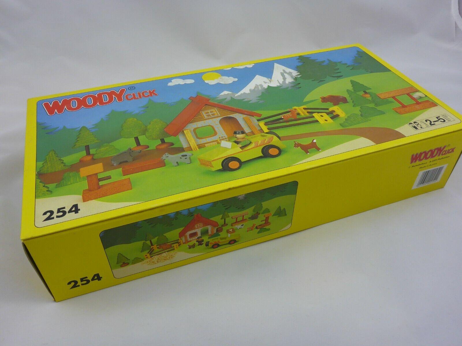 Matador Woody Click Forsthaus 254 Holzbaukasten - Retro - ab 2-5 Jahre