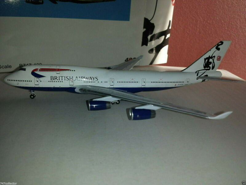 BigBird400 British Airways B 747-436 1:400 BB4-2004-47 Hong Kong TAIL G-BYGG