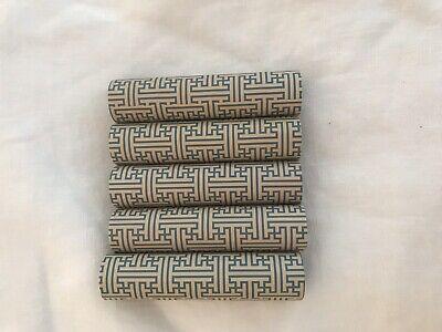 4 in. kaarskoker Designer Candle Cover (Set of 4) - blue/ivory greek (Blue Designer Candle)