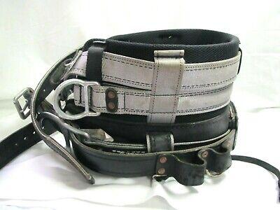Buckingham Linemantree Climbing Leather 4-d-ring Body Belt Size 26 Good Shape