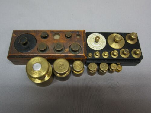 3 Sets Of Brass Weights