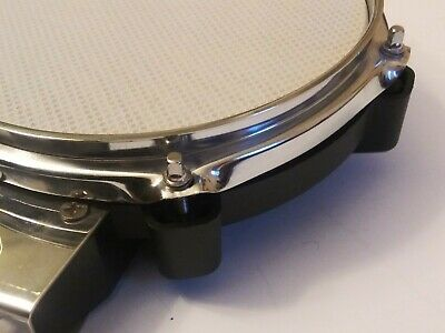 Electronic Mesh Snare Drum Pad w/Clamp & L-Bar Dual Zone for Alesis or Simmons