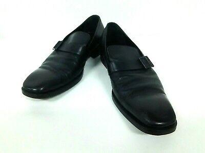 Auth GUCCI Black Leather Shoes Men