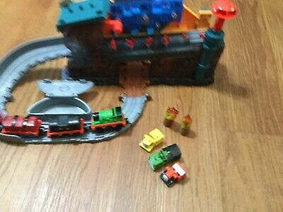 THOMAS & FRIENDS SODOR STEAMWORKS PLAYSET MATTEL AS IS