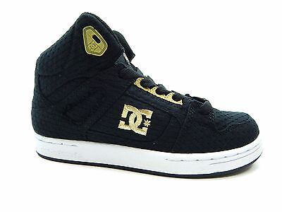 DC REBOUND TX Black Gold Youth shoes  Dc Kids Shoes