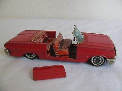 Vintage HAJI Japan Tin Litho Friction Chevy Impala Convertible Parts / Restore