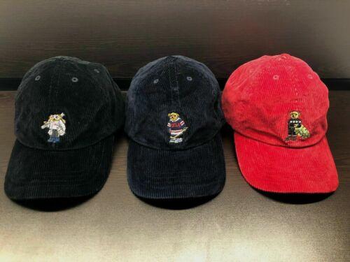 NEW Polo Ralph Lauren Kids Bear HAT Corduroy Boys Hat Cap ALL SIZES