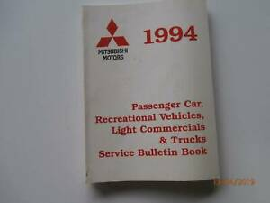 Mitsubishi Service Bulletins 1994 Tarago Goulburn City Preview
