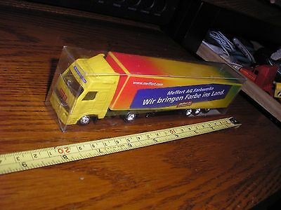 """NICE 1/87 ? 7 1/2"""" Foreign Cabover Meffert AG Farbwerke Semi Tractor Trailer for sale  Shipping to Canada"""