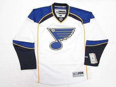 ST. LOUIS BLUES WHITE AWAY REEBOK PREMIER 7185 HOCKEY JERSEY Away Blank Hockey Jerseys