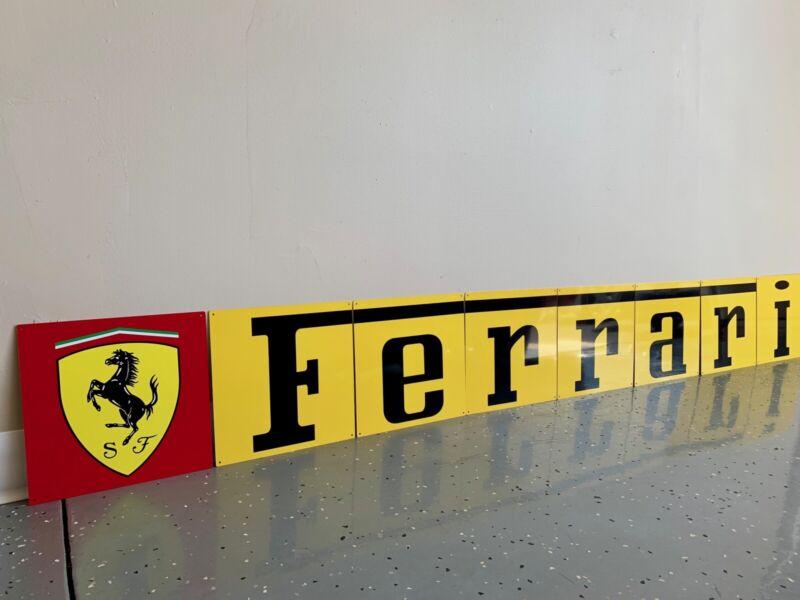 "Amazing  80"" 8 Piece Ferrari Italian Racing Vintage Reproduction Garage Sign"