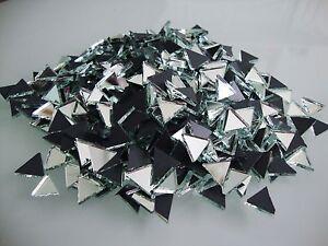 Mosaic Triangular Silver Mirror Glass, Art & Craft  (Approx, 10 mm),  100 pcs,