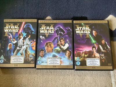 STAR WARS ORIGINAL TRILOGY EPISODE 4-6 DVD LIMITED EDITION MOVIE FILM PART 4 5 6