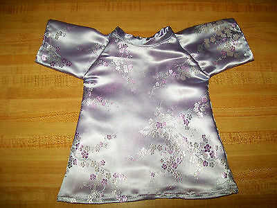 FLOWER LAVENDER CHINESE CHEONGSAM BROCADE DRESS for 16