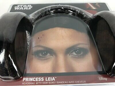 Princess Leia Hair Buns Headband Disney Star Wars Rubies Costume 8230