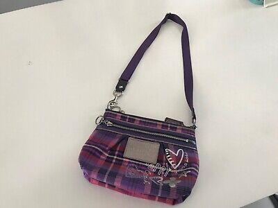 Coach Poppy Leather Handbag Hobo Crossbody Bag Grape Ice purse Retail $200
