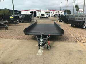 "14x6'6 CAR TRAILER | FULL CHECKER PLATE  | WITH 10"" SIDES 