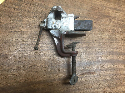 Vintage Table Top Clamp Bench Vise Anvil Gunsmith Clamp 2 14 Opening