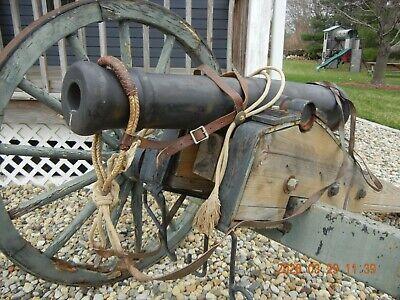 Antique Western Hackamore - Rawhide Bosal & Fiador Reins Saddle Vaquero -