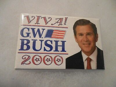 Presidential Pin Back George Bush Campaign Button 2000 President Viva Candidate