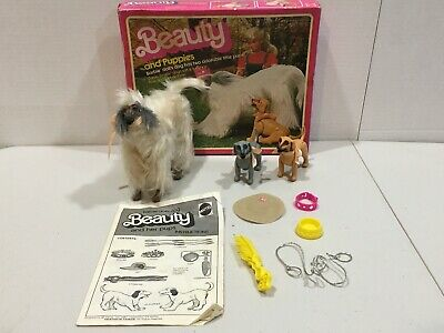 Vintage 1981 Mattel Barbie Beauty Dog and Puppies w/ Instructions & Box - 5019