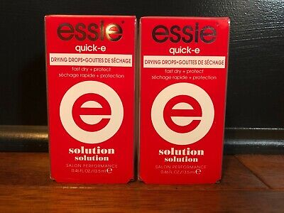 LOT OF 2 ESSIE Quick-E *DRYING DROPS* Fast Dry + Protect! NEW IN BOX! Raft Dry Box