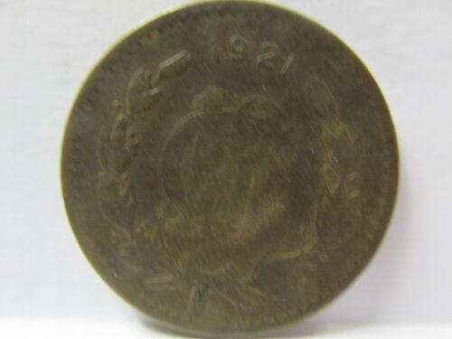 1921 10 CENT MEXICO COPPER