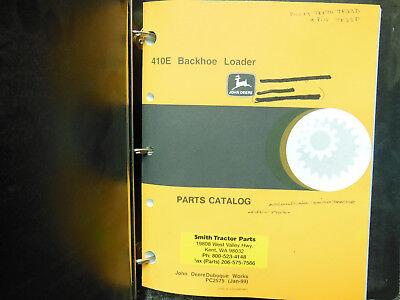John Deere 410e Backhoe Loader Parts Catalog