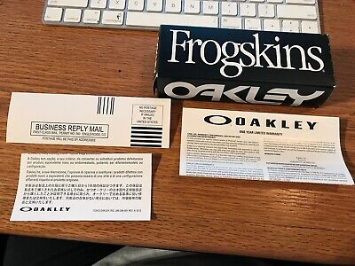 Oakley Frog Skin Sunglasses Box  Box and papers  Only as (Oakley Frog Skin Sunglasses)