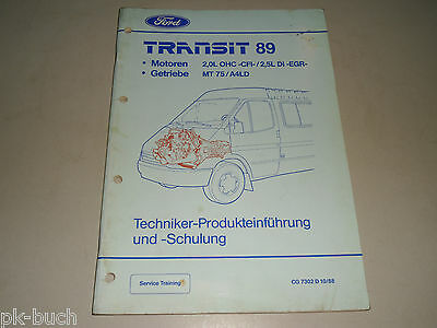 Service Training Product Einführung Ford Transit 89 Motor Transmission, 10/1988