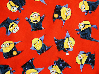 FAT QUARTER  MINIONS FABRIC HALLOWEEN VAMPIRE TRICK OR TREAT COTTON QUILTING  FQ](Halloween Minions)