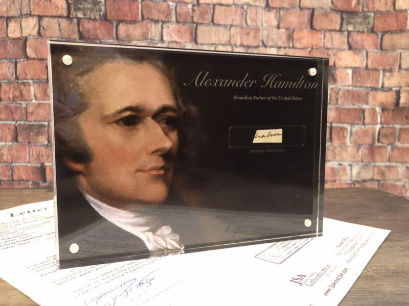 ALEXANDER HAMILTON SIGNED HANDWRITTEN WORD JSA LOA AUTHENTIC HISTORY