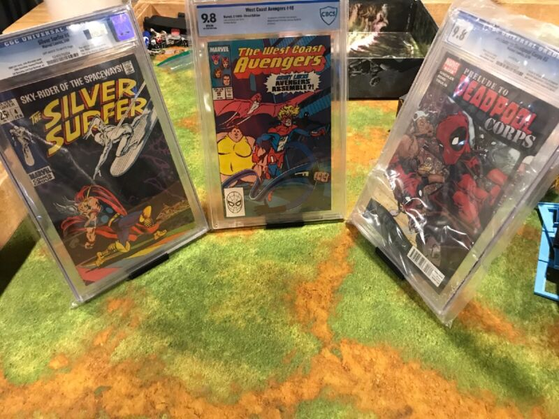 x2 Comic Book Display Stand Great For Graded CGC & CBCS And Non-Graded