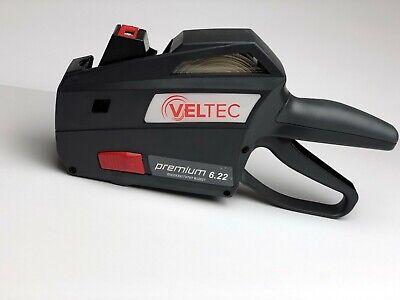 Veltec Premium 6.22 Price Gun 1 Line 6 Digits Preloaded W1000 Labels Inker