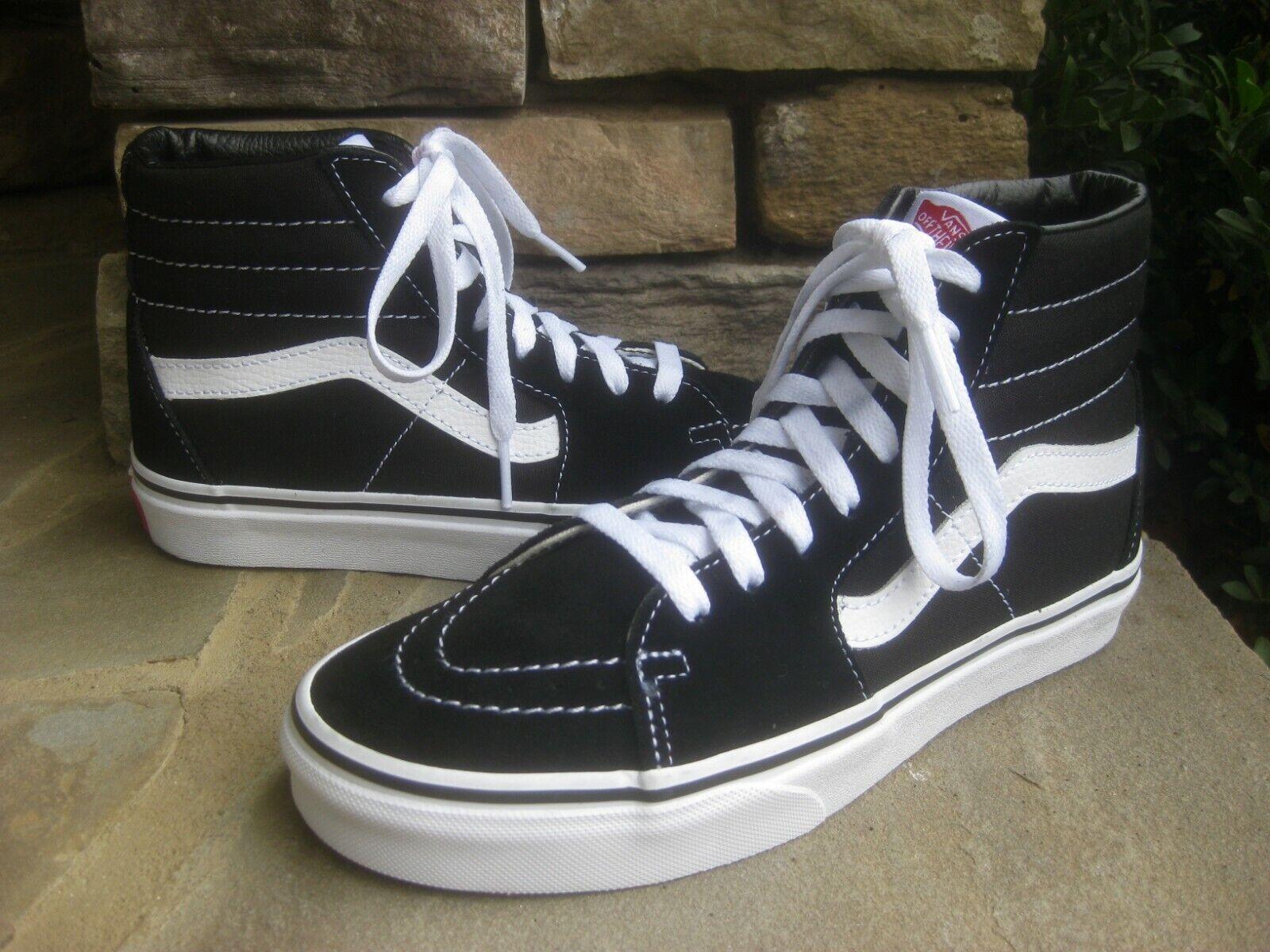 VANS 721494 Men US 8 Black Skate Shoe