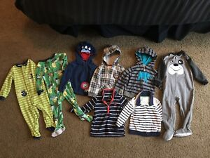 Boys 18 month sweaters and sleepers