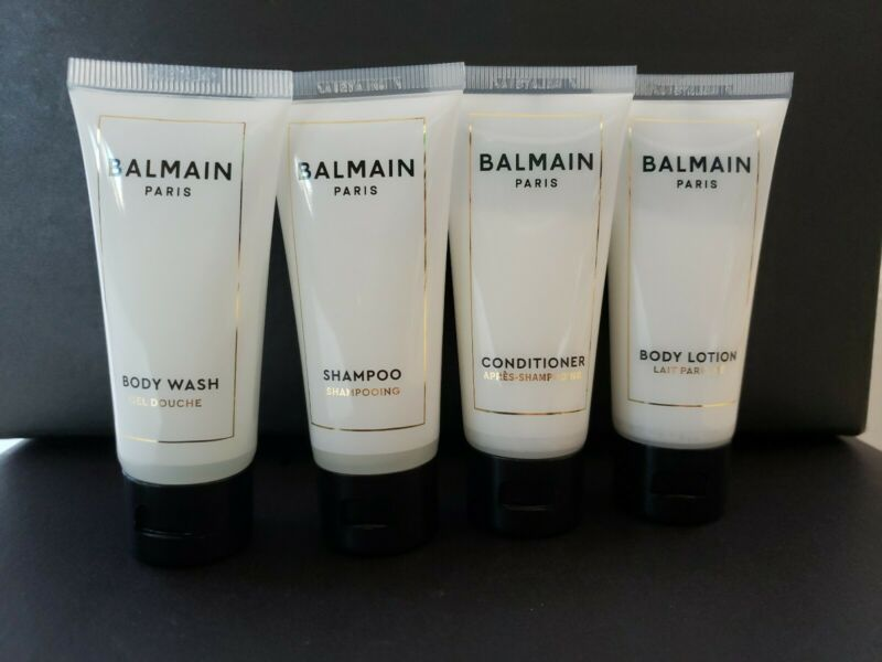 Balmain Paris Luxury Shampoo Conditioner Body Wash Lotion Travel Set NEVER USED