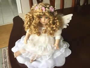 Baby's Dream bisque porcelain inspirational large angel doll
