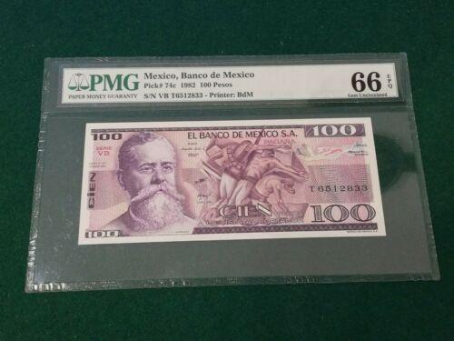 MEXICO 100 PESOS 1982 UNC 66EPQ