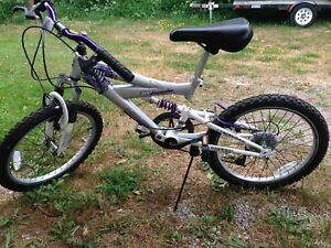 """Girl's bike, 20"""" with dual suspension"""