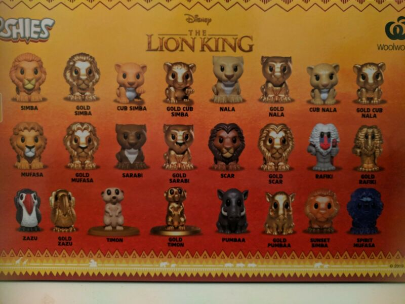Woolworths THE LION KING OOSHIES Disney Character Figure Variation Listing