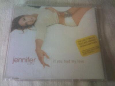 JENNIFER LOPEZ - IF YOU HAD MY LOVE - UK CD SINGLE & POSTER