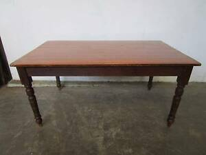 D5080 Terrific Vintage Country Rustic Pine Kitchen Dining Table Mount Barker Mount Barker Area Preview
