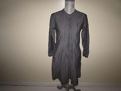 Pintuck Kleid (Gap Damen Pintuck Kleid GRÖSSE XS Nwt 3/4 Ärmel Grau 100% Cotton Xs)