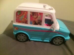 Barbie Ultimate Puppy mobile vehicle hardly played with exc cond