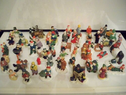 50 CERAMIC HOUSE PEOPLE - OVER 50 - MOST SNOW THEME