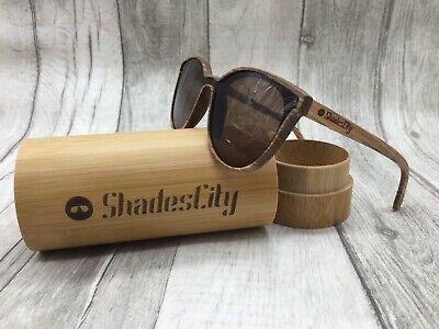 Men's 2020 Handcrafted Zebra Wood Frame Brown One Piece Polarized Sunglasses (Wood Frame Wayfarer Sunglasses)