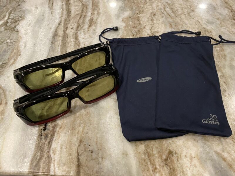 2 Samsung SSG-2200AR Active 3D Glasses, Great condition !