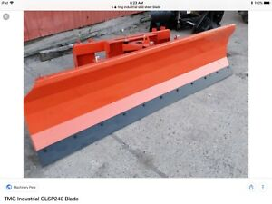 94 inch snow plow, blade fit most tractors and skid steer